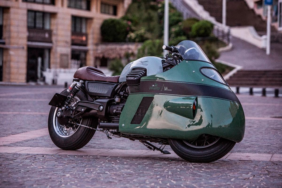 The Vanguard Moto Guzzi V8 is a retro homage to one of the most audacious bikes ever built