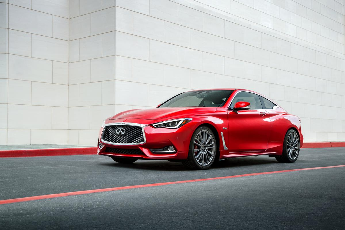 Infiniti is introducing a new Q60, a coupe version of the Q50 sedan, and it's got a serious top-shelf contender in its Red Sport 400 packaging