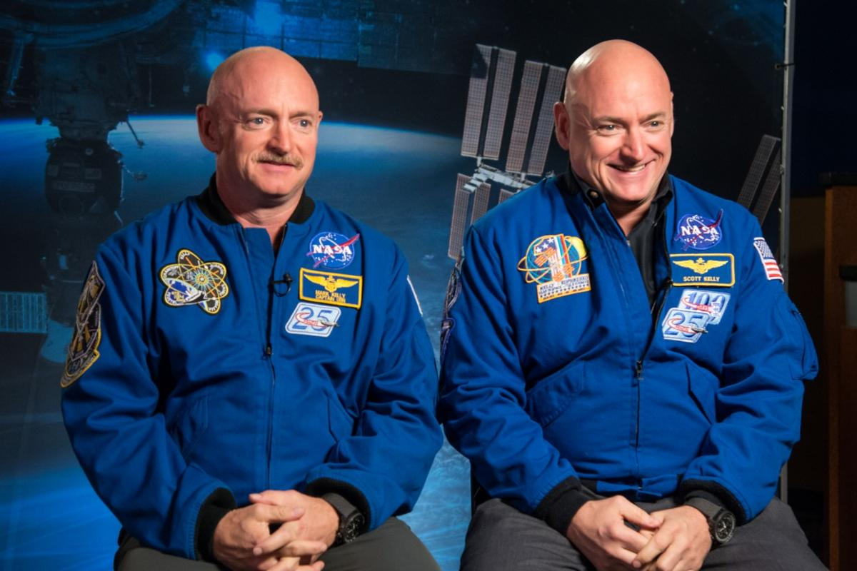 For NASA's comprehensivestudy on space travel's effects on human health,astronautScott Kelly (right) spent almost a year on the ISS, while his twin brotherMark Kelly(left) stayed on Earth