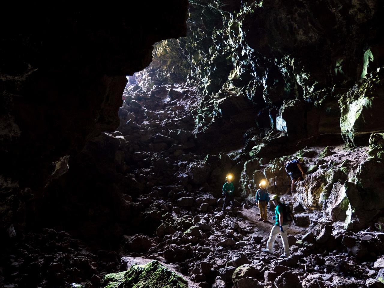 Lava tubes, such as these in the Canary Islands, could one day prove to be useful shelter for settlers on the Moon or Mars