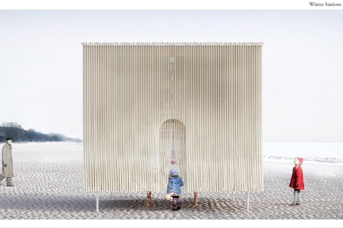 Floating Ropes, by Quebec's MUDO (Elodie Doukhan and Nicolas Mussche)