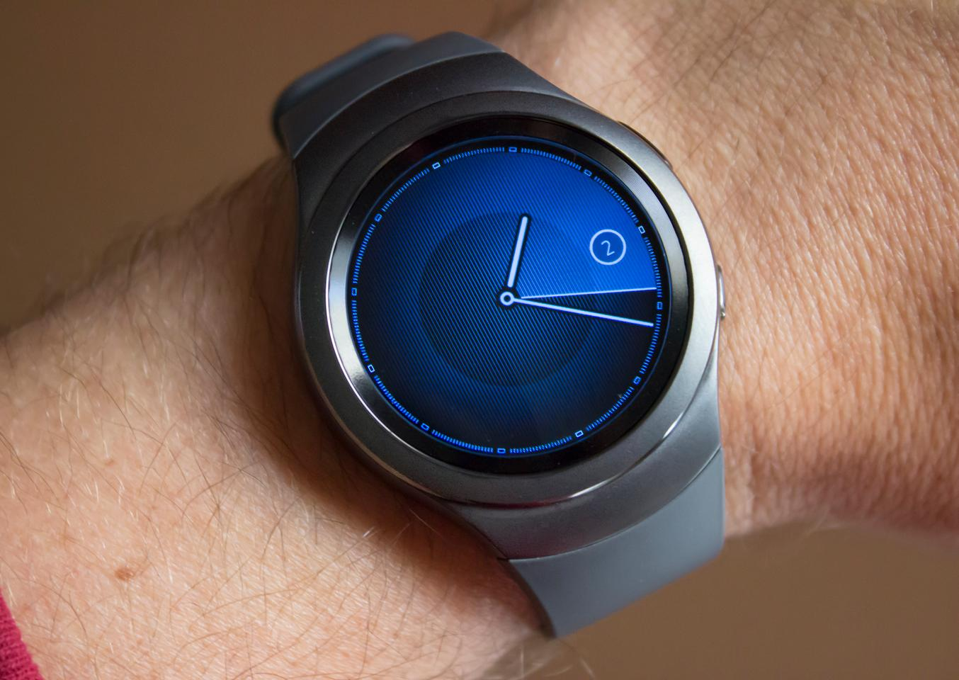 The 1.2-inch, fully round display on the Samsung Gear S2