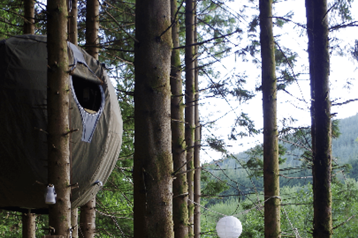 The Tree Tent is a low-impact luxury tent, designed to be easily transported