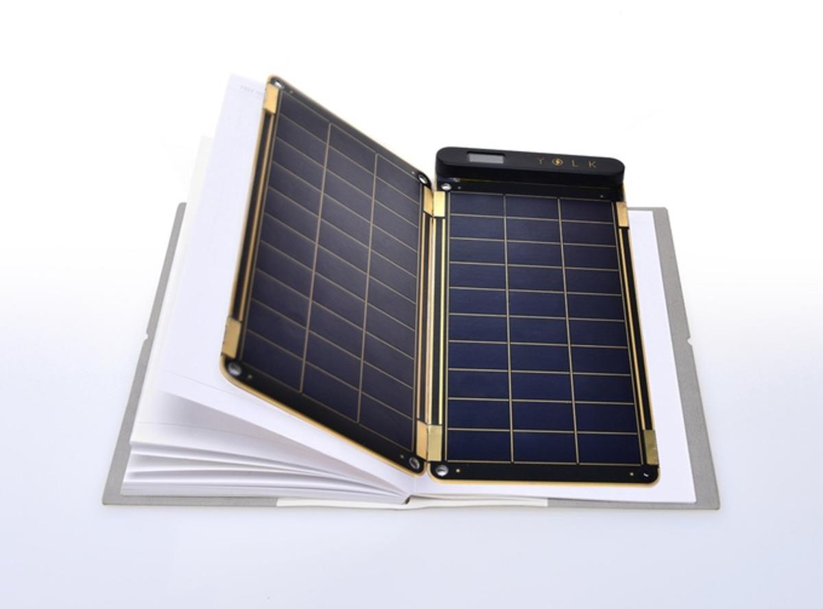 Solar Paper's panels are thin enough to slot between the pages of a notebook