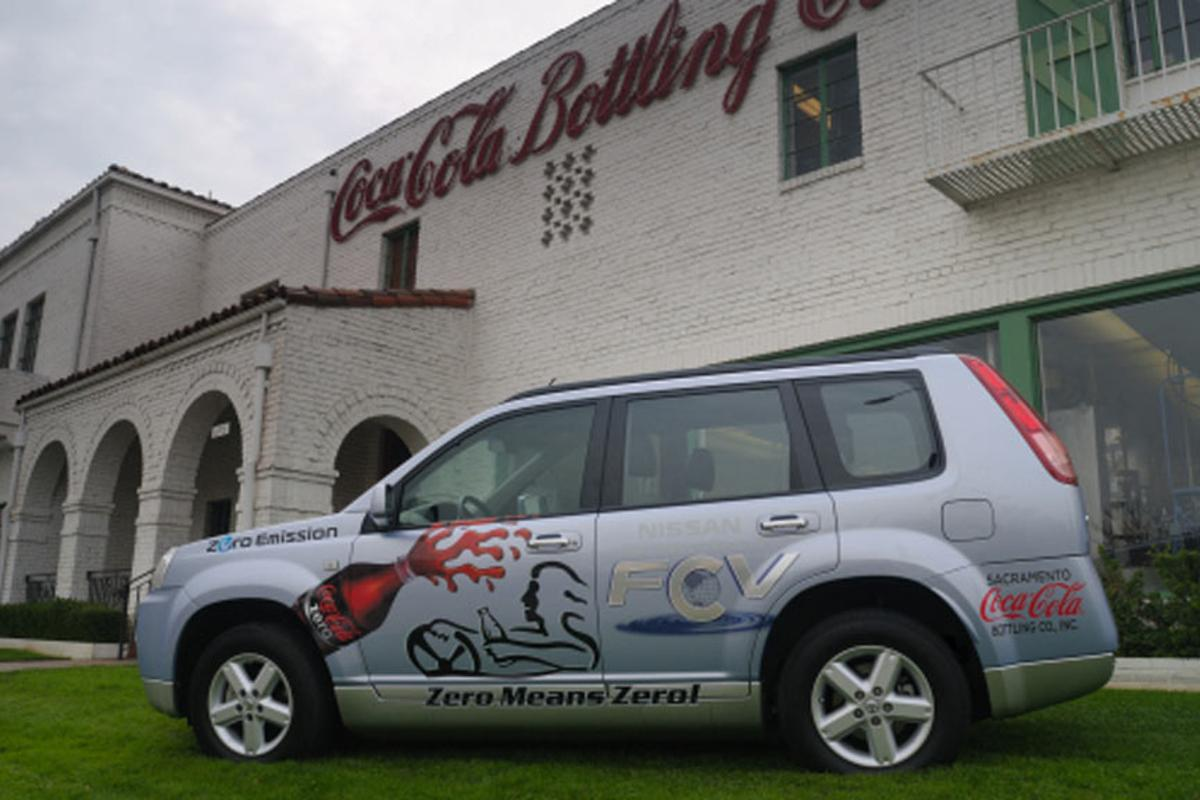 Nissan North America, announces the first commercial lease of its zero emissions X-TRAIL Fuel Cell Vehicle to Coca Cola in Sacramento