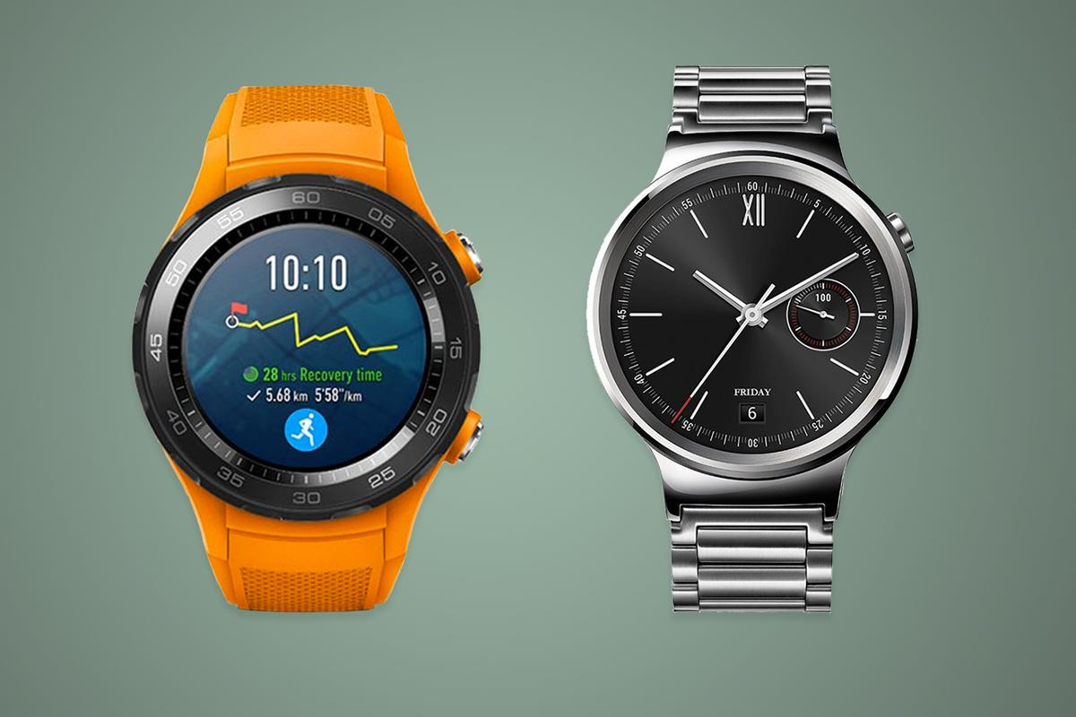 How has the Huawei Watch evolved between its first and second generation?
