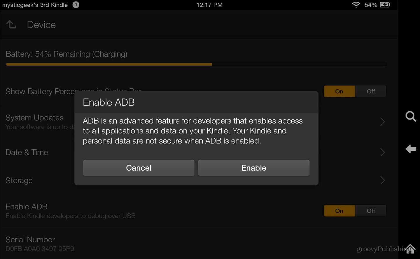 To begin you need to enable ADB which allows developers to debug over USB