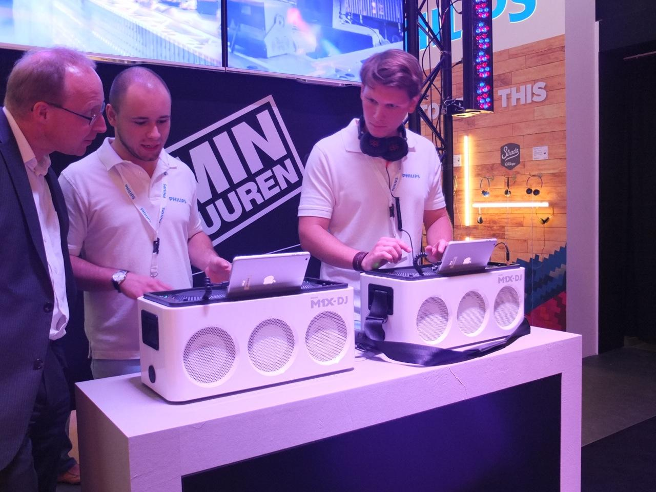 The M1X-DJ Sound System is endorsed by Dutch trance music maestro Armin van Buuren