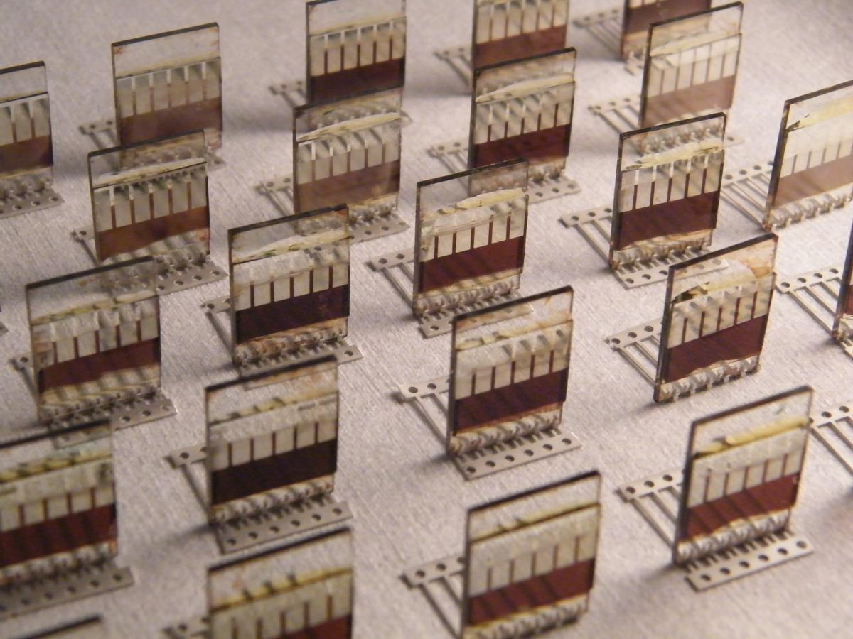 Combining the high efficiency and low cost of perovskite with the simplicity of spray-on coating could reduce the cost per watt of solar cells (Photo: Lucy Pickford/University of Sheffield)