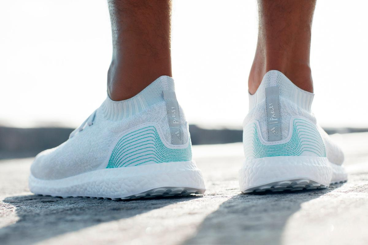 Adidas has teamed up with environmental organization Parley for the Oceans to make the shoes