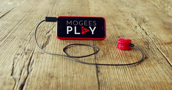 Mogees Play is a more general consumer version of the Mogees Pro, which was designed for professional and advanced amateur musicians