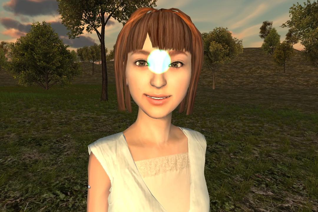 Fove's eye-tracking technology could allow virtual characters to recognize where the user is looking and react accordingly