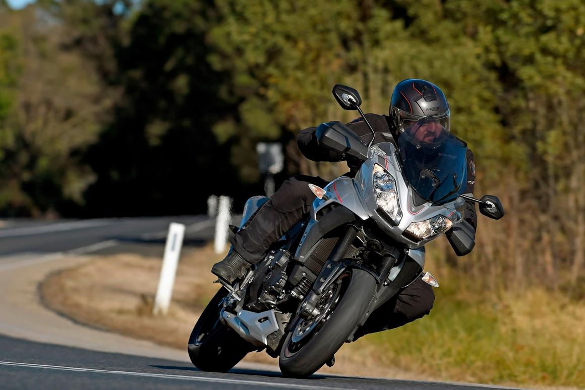 The 2016 Triumph Tiger Sport 1050 is amazingly relaxing to throw through tight twisties and fast sweepers alike