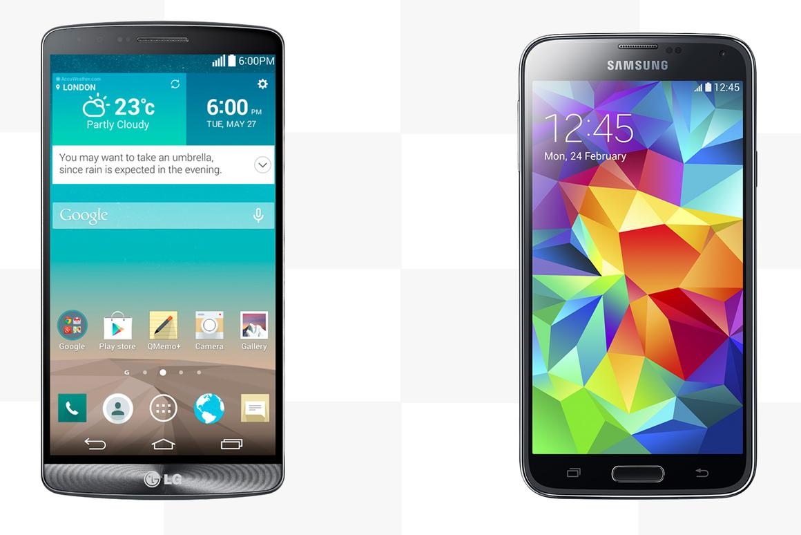 Gizmag compares the features and specs of the LG G3 and Samsung Galaxy S5