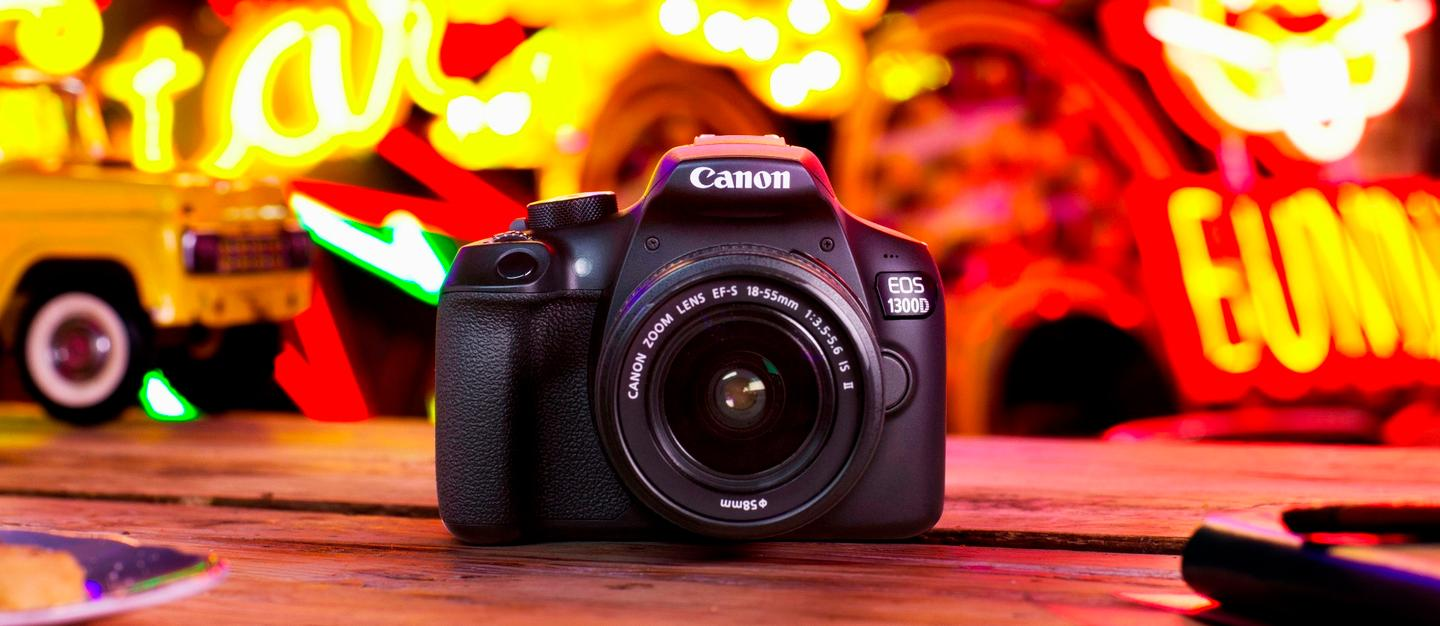 The Canon EOS Rebel T6 (also know as the EOS 1300D) is a budget-friendly entry-level DSLR with built-in Wi-Fi
