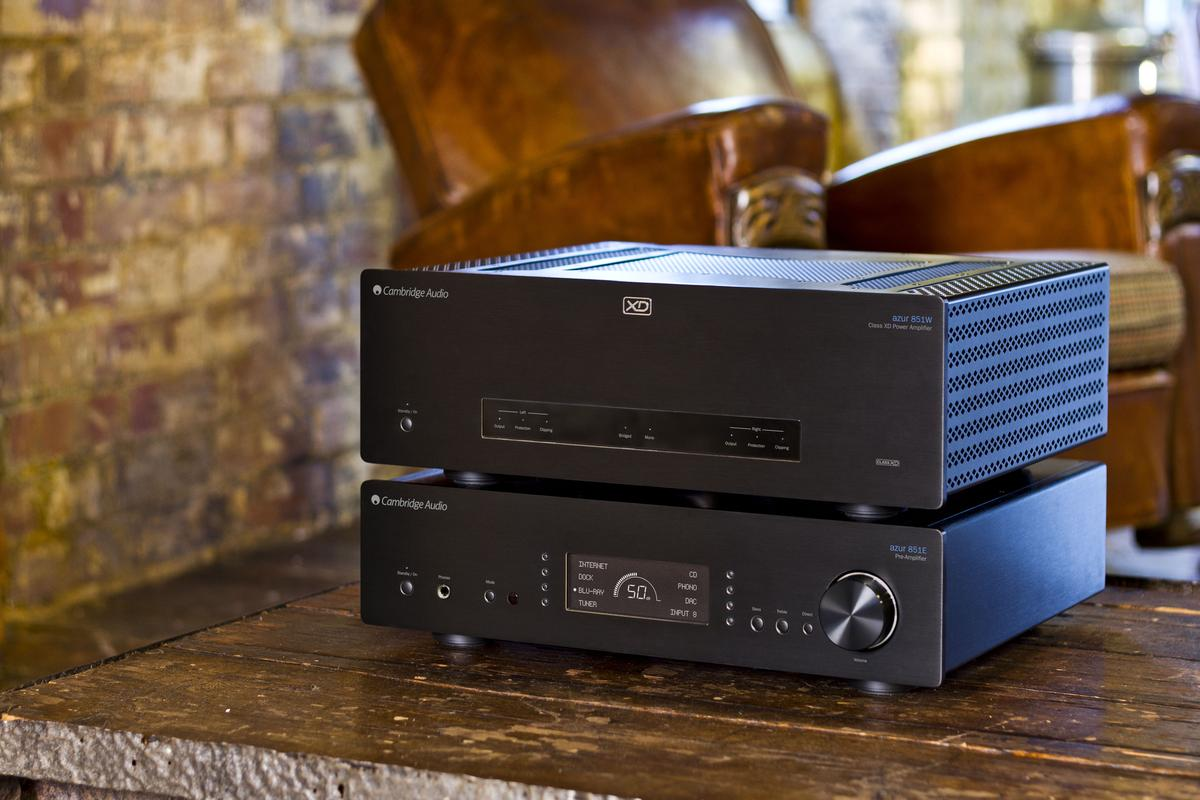 The Azur 851E preamp and the Azur 851W power amp from Cambridge Audio