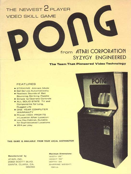 Atari's Pong was released in the early 1970's