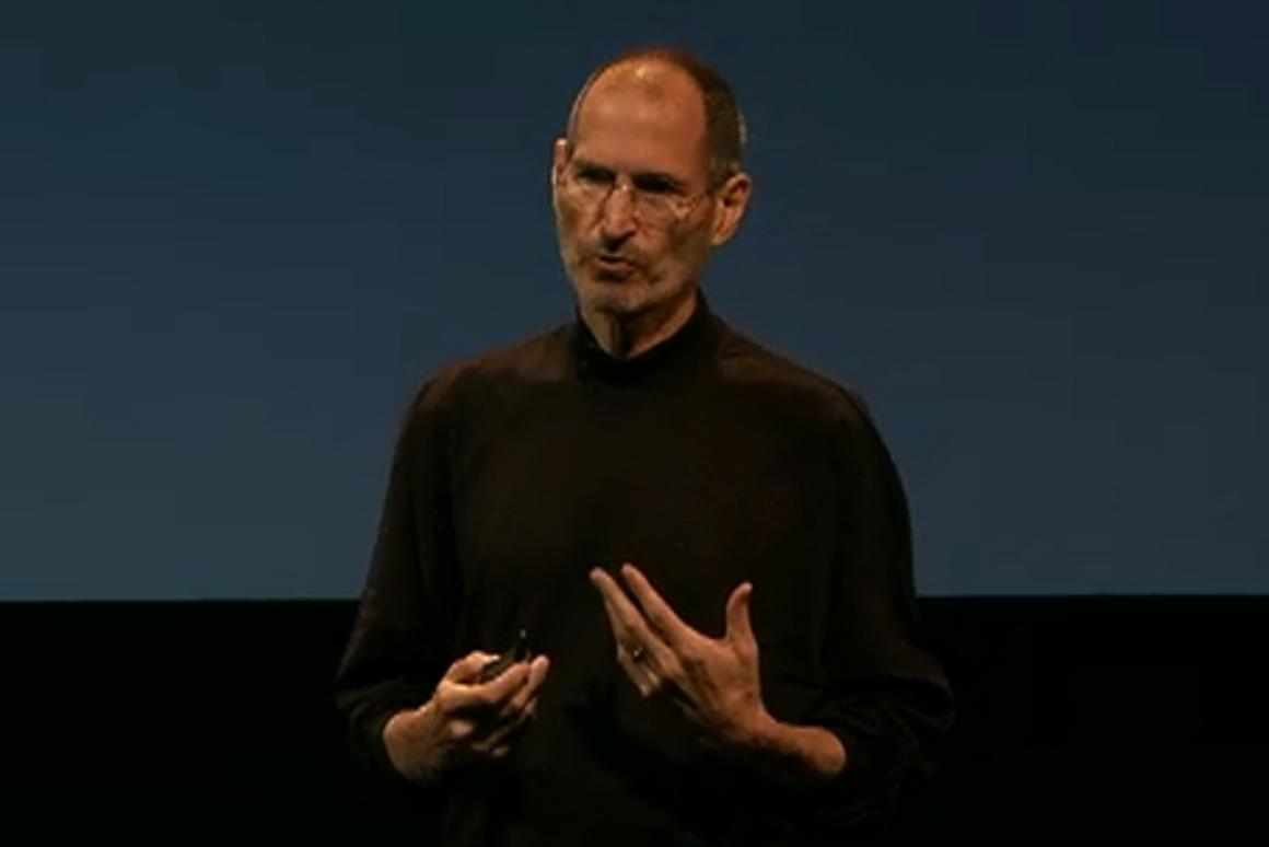 Steve Jobs at the Friday press conference