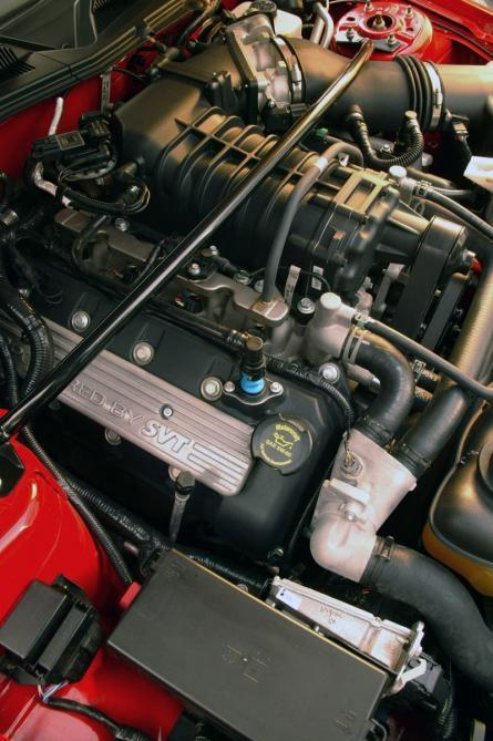 The Ford Shelby GT500 Super Snake: this engine reportedly produces up to 725 horsepower.