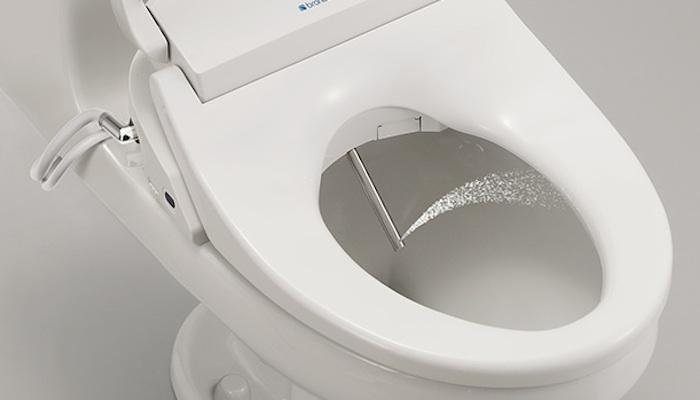 The Brondell Swash 1400 is a bidet built into a toilet seat, and it comes with a crapload of comfort features