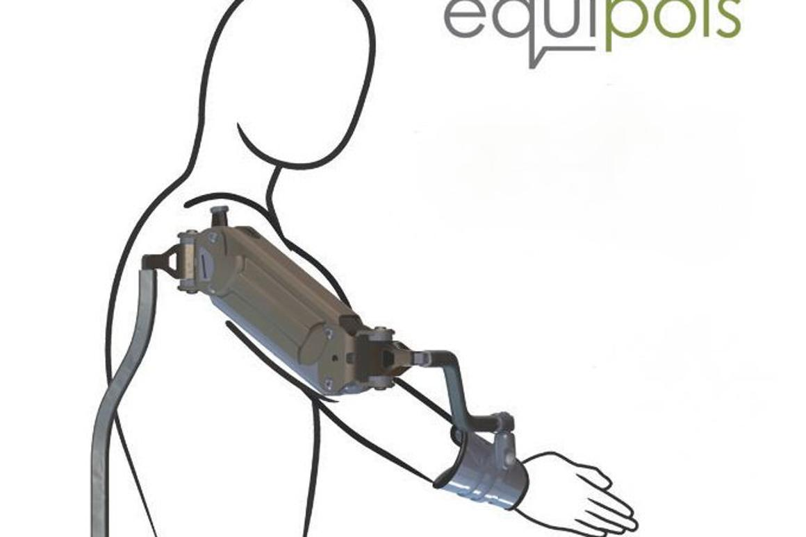 The x-Ar exoskeletal arm support makes life easier for people whose work requires them to keep one arm extended (Image: Equipois)