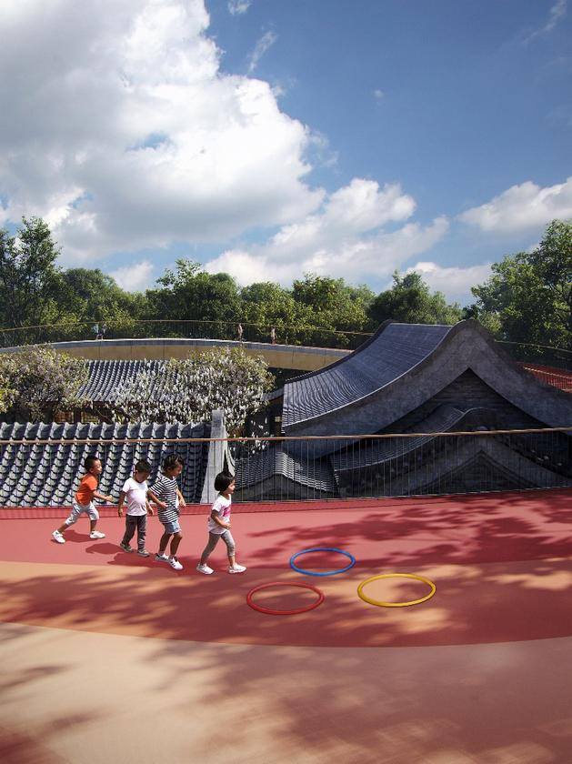 Top-tier firm MAD Architects blended old with new last time it designed a kindergarten, and the firm is repeating the trick now