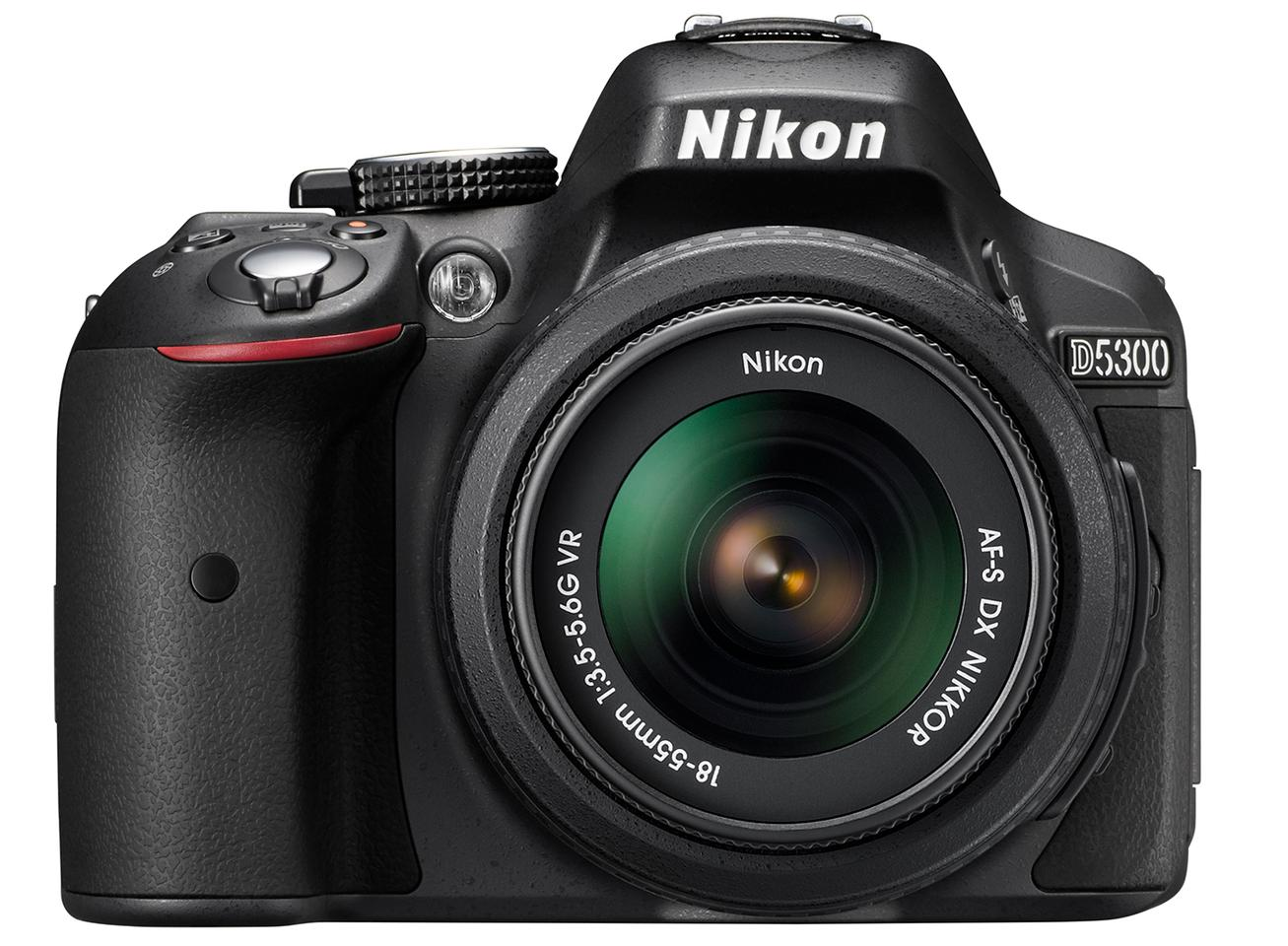 The D5300 is the first DSLR from Nikon to include built-in Wi-FI and GPS capabilities