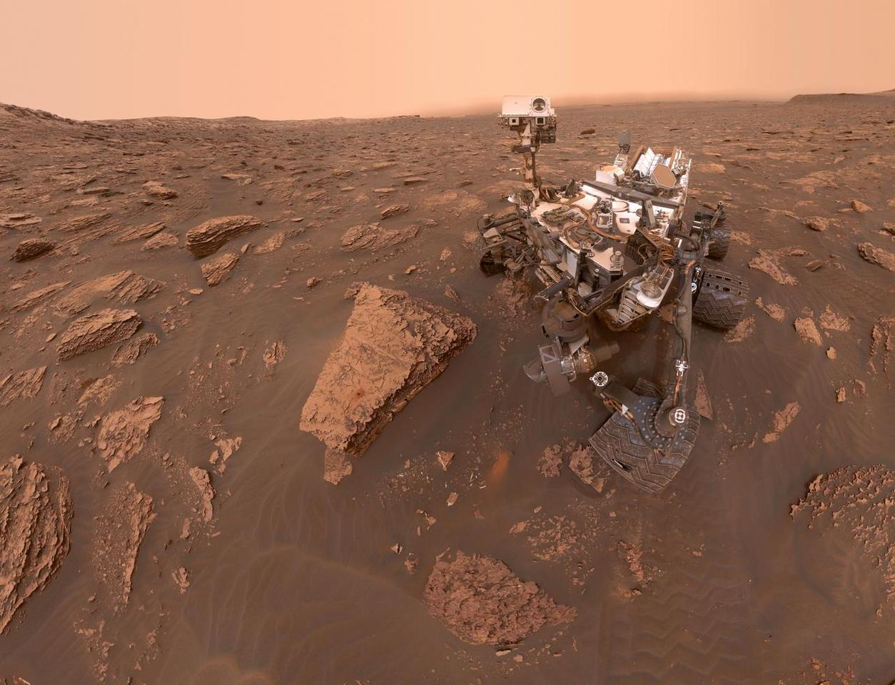 A photo of Curiosity taken by the rover itself on June 15, 2018
