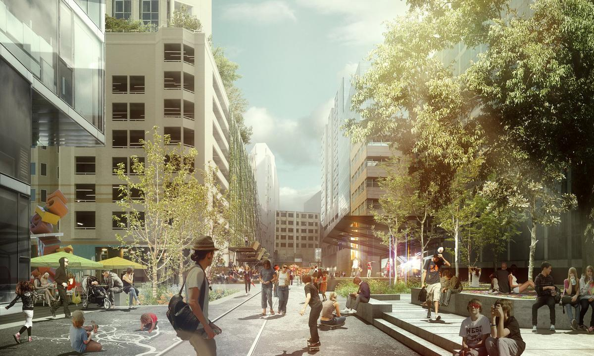 The Goods Line is a former rail track in Sydney that is being turned into a public space