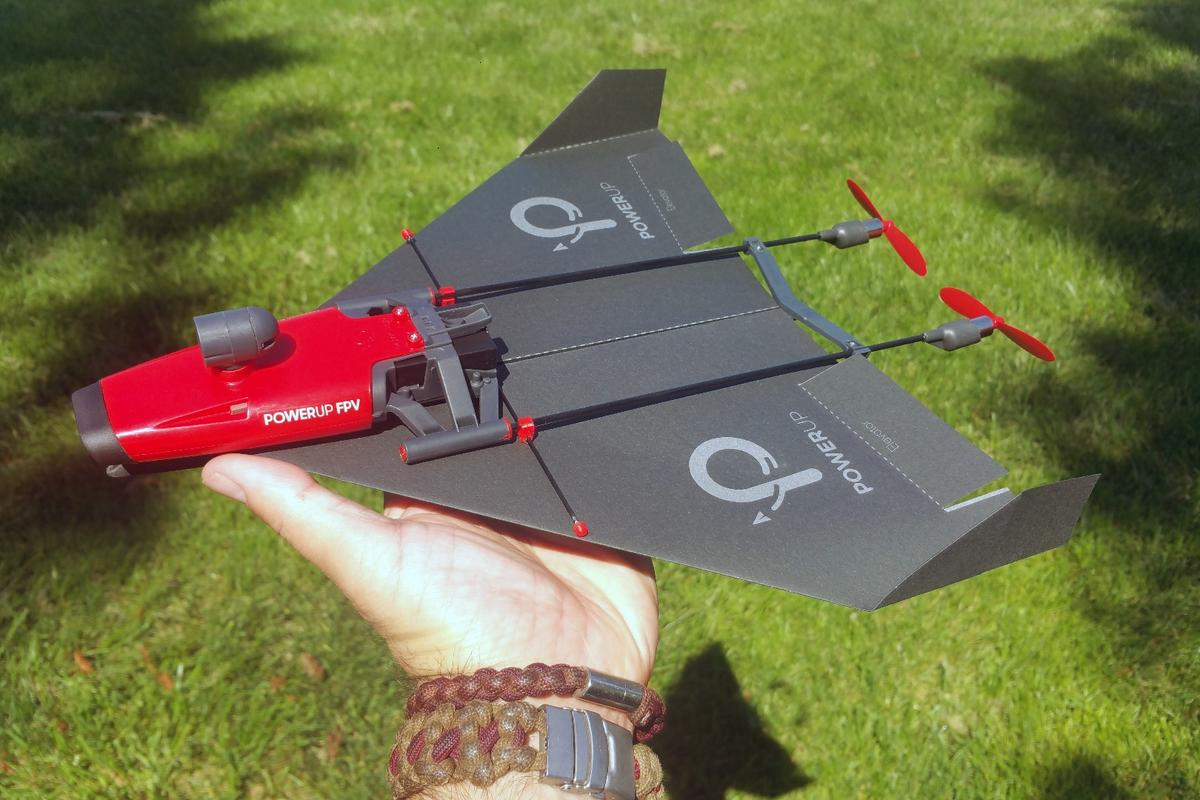 The PowerUp FPV paper airplane drone has some really fun elements and is easy to use