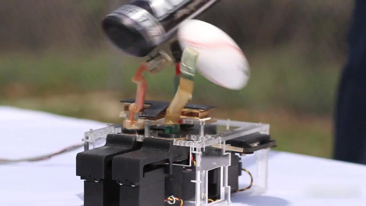 DARPA's ARM program's hand has fingers which can survive a strike with a baseball bat