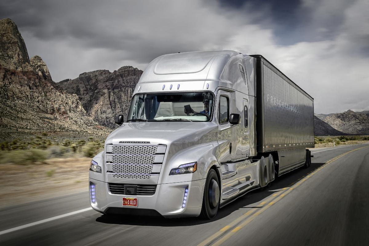 The Freightliner Inspiration is an autonomous hauler that has been licensed to operate on public highways in the state of Nevada