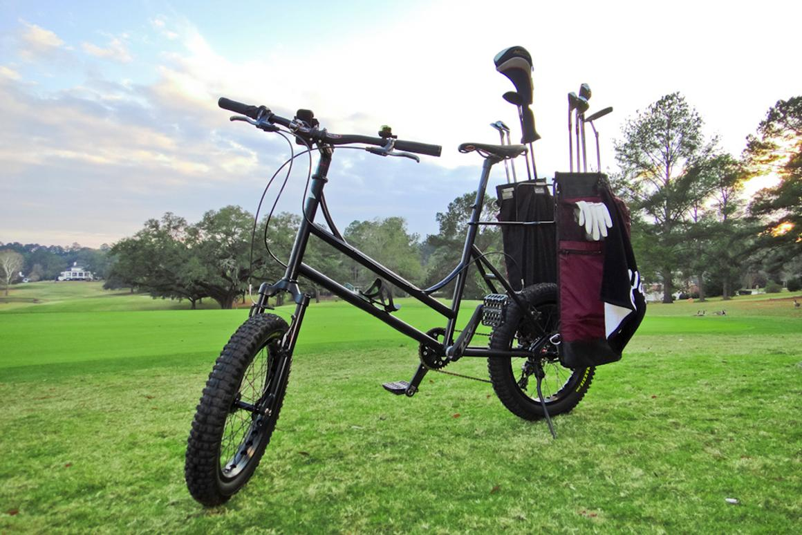 The Golf Bike in its natural habitat