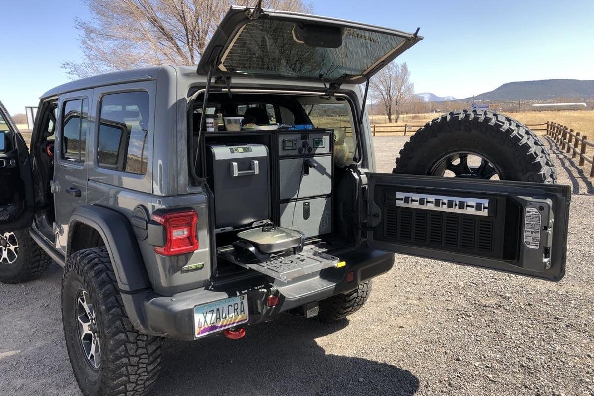 DirtBox Gear looks to augment the Jeep Wrangler's heralded off-roading prowess with electric-camping capabilities