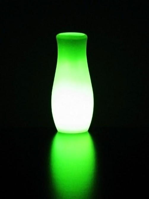 The lamp has a microprocessor that checks for statistical patterns in the REG, which causes the lamp to change its color
