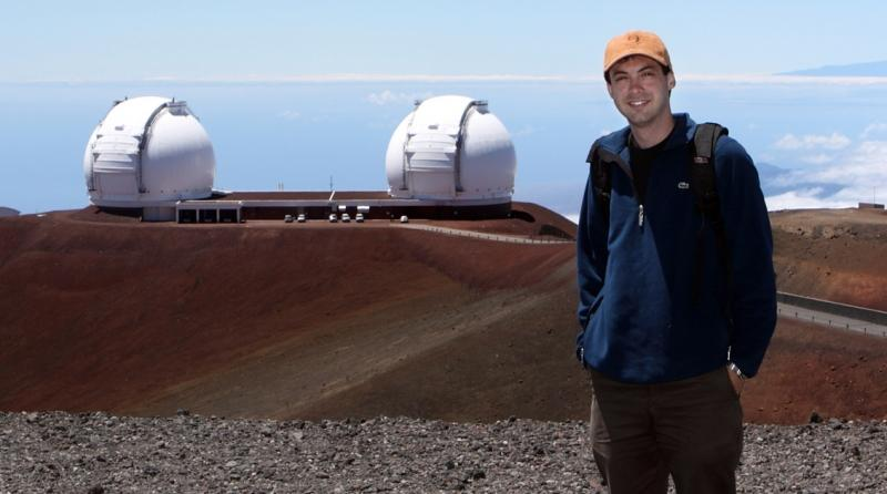 Lead author of the study Iair Arcavi, at the Keck Observatory in Hawaii