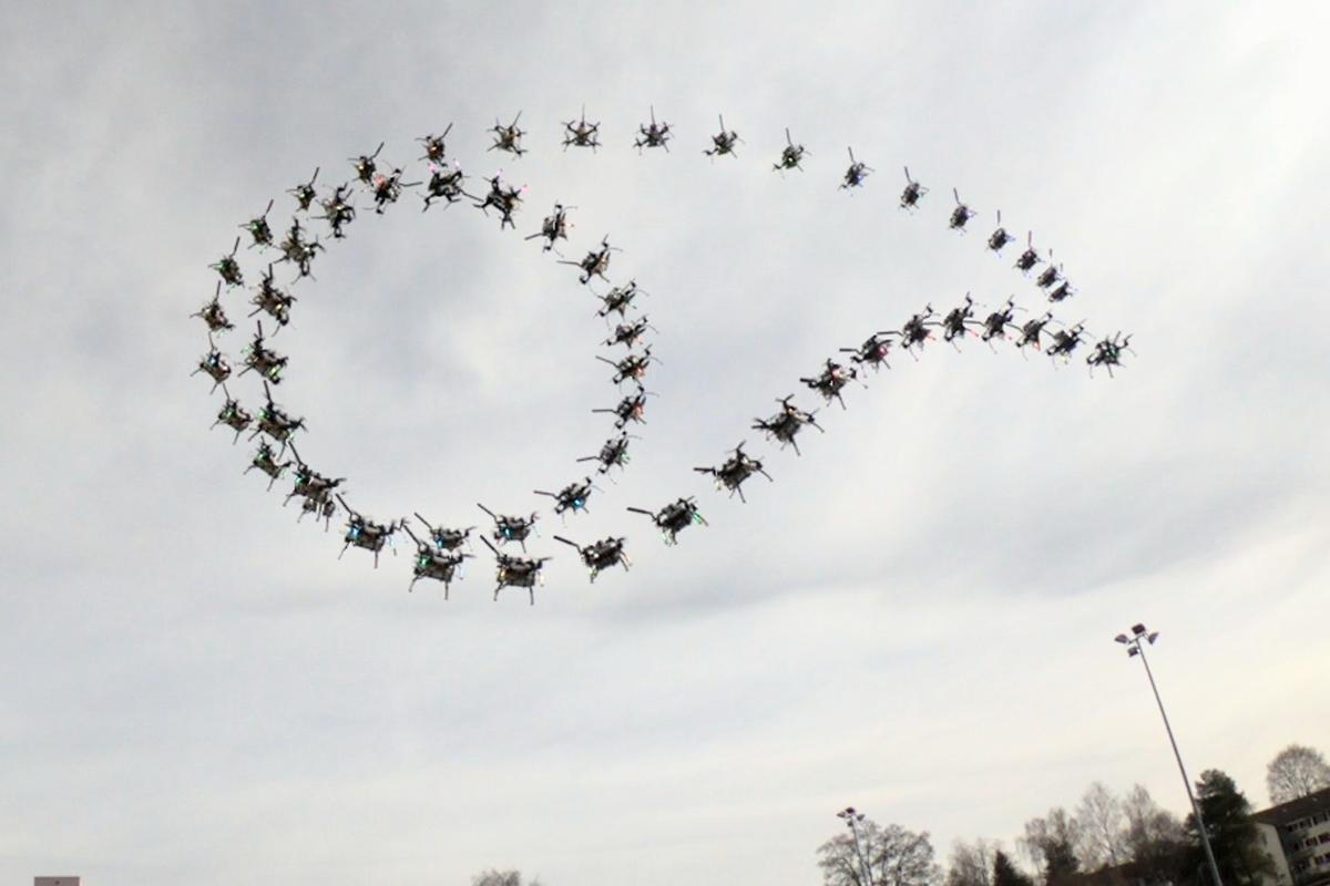 Sequence of a quadcopter performing a Matty flip