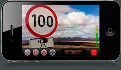The FiLMiC Pro app's Double Reticle Mode, in which two separate reticles determine focus and exposure