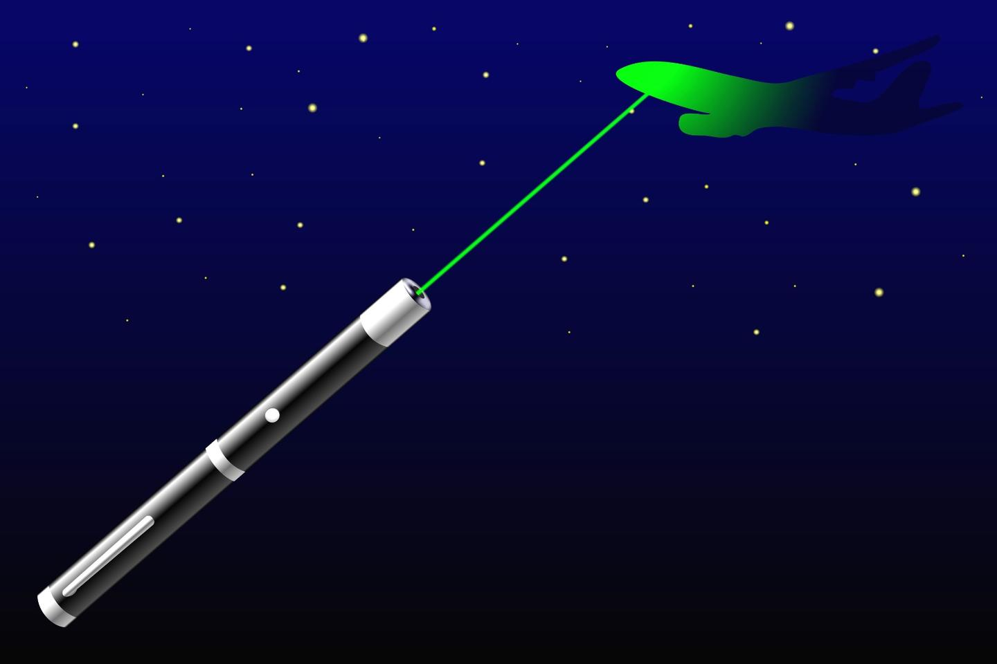 According to the US Federal Aviation Administration, there were 6,754 laser-pointer strikes on aircraft in 2017