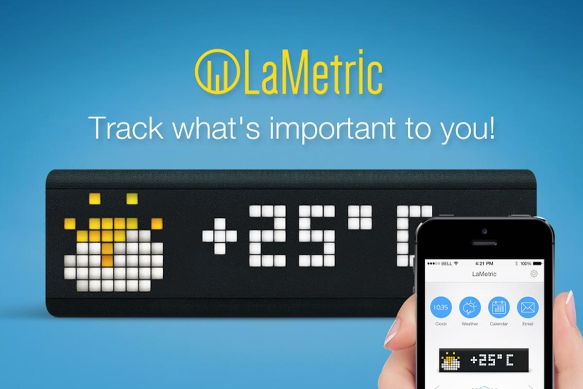 LaMetric is a customizable ticker able to display whatever is important to you personally