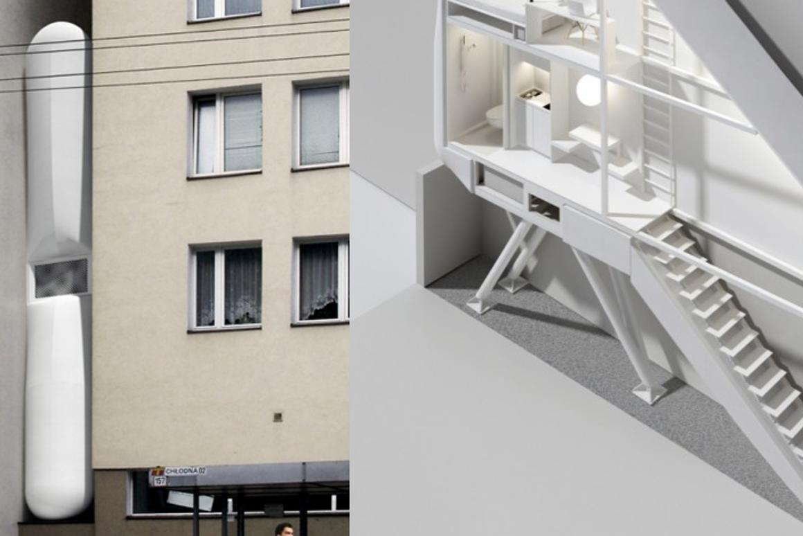 One of world's narrowest houses will be built in Warsaw as a workplace for Etgar Keret (Photo: Centrala)