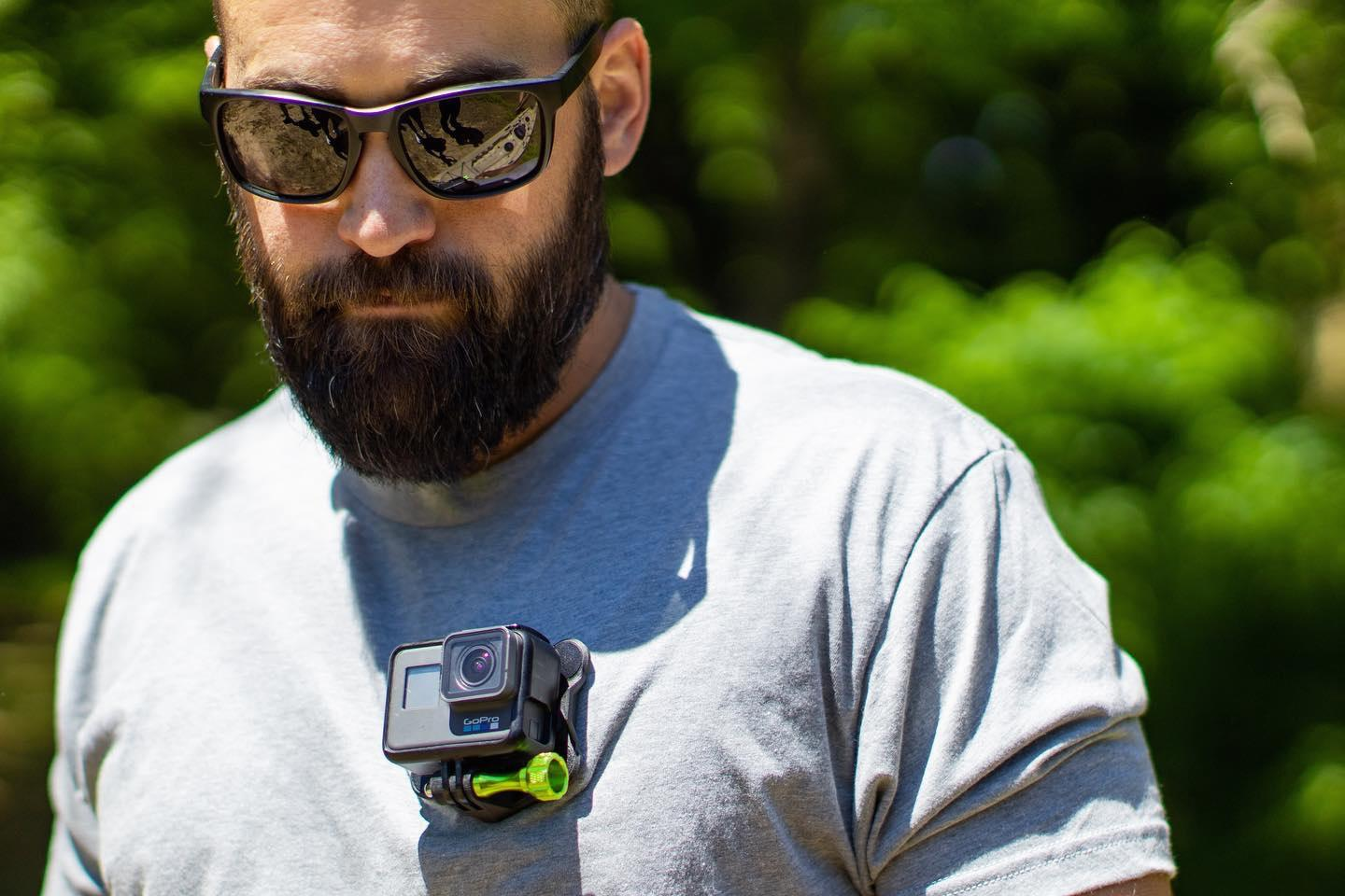 The Snap Mount allows cameras such as the GoPro Hero to be mounted on clothing