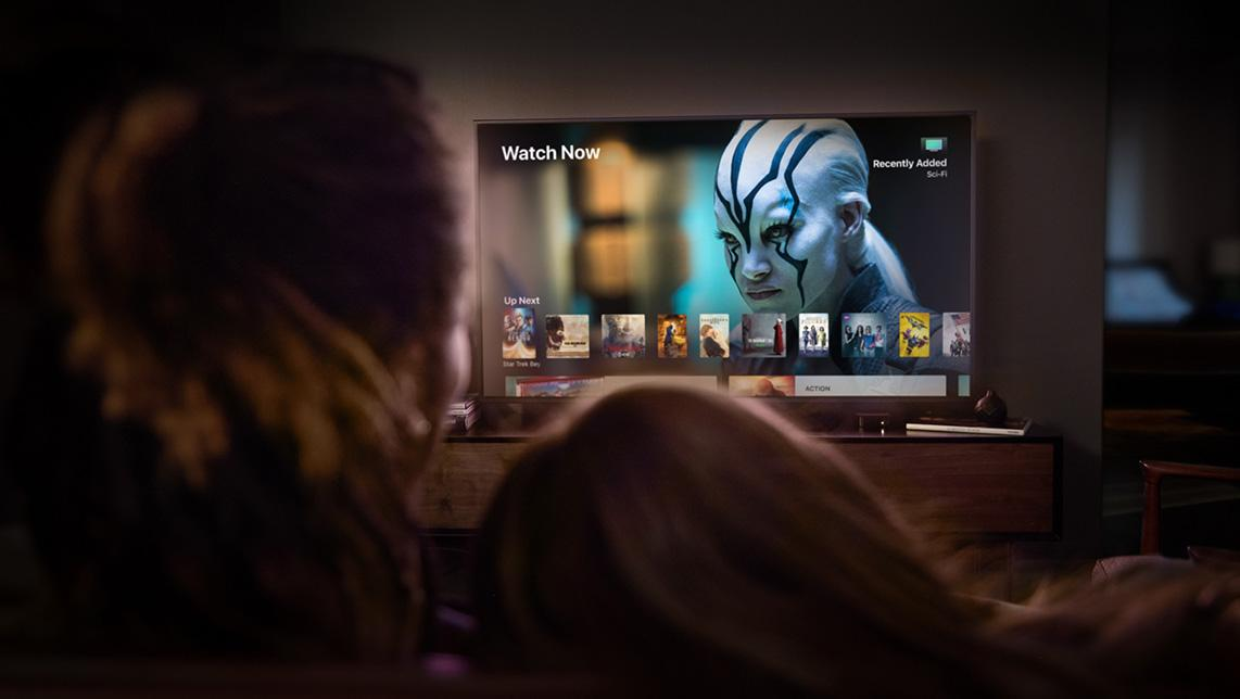 The Apple TV 4K cranks up the visuals to 2160p 4K resolution and HDR, while also upscaling HD content