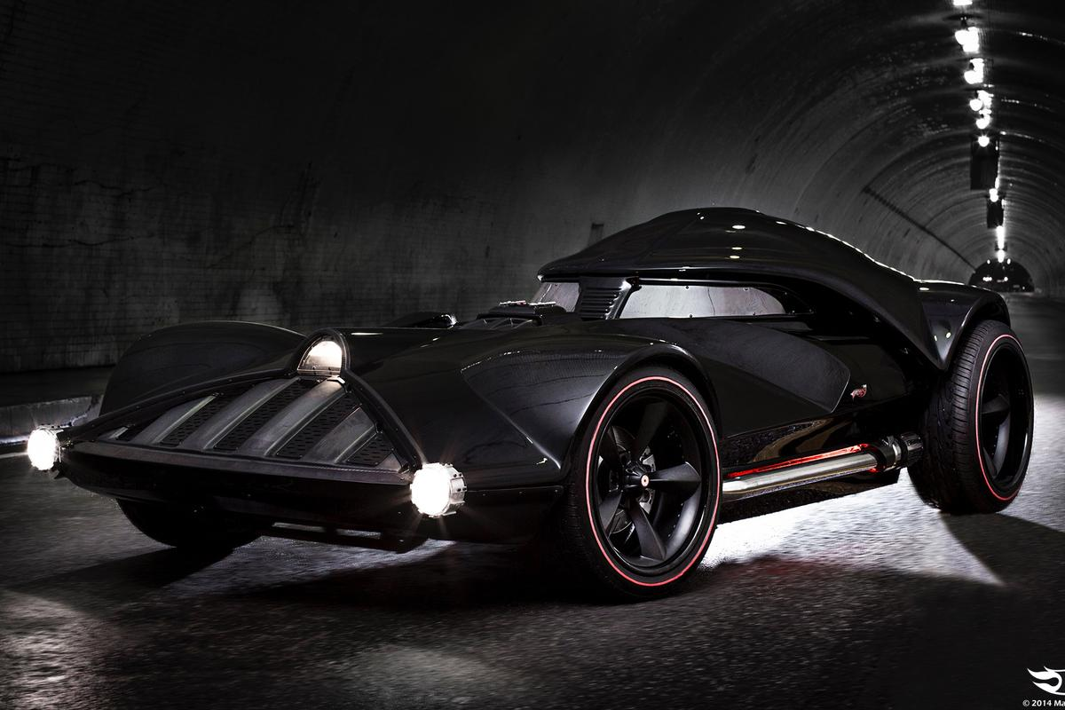 The full-scale Vader HotWheels car uses a Corvette chassis and is reportedly capable of 80 mph (Photo: Mattel)