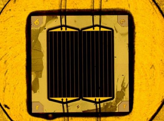 New world record solar cell (Image: Fraunhofer ISE)