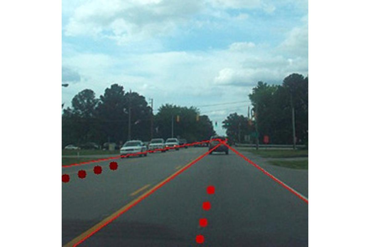 Researchers have written a program that uses algorithms to sort visual data and make decisions related to finding the lanes of a road