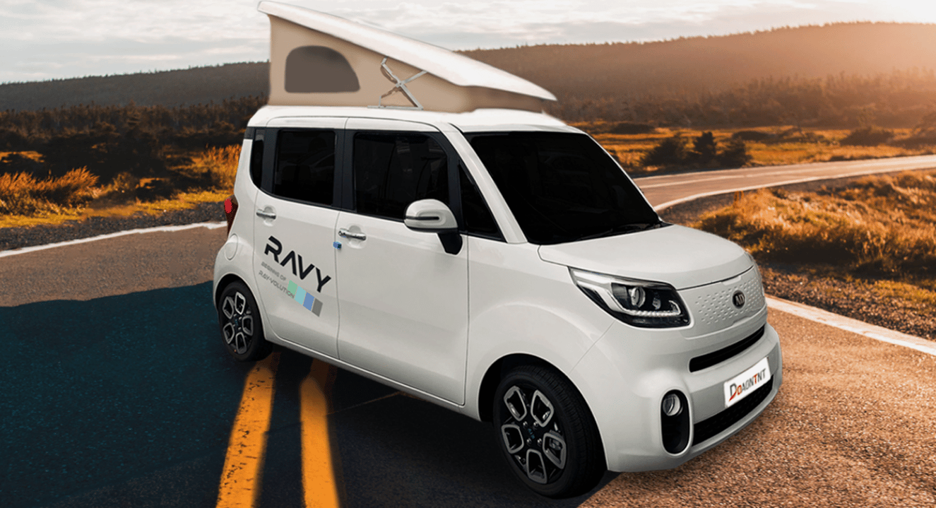 The Daon Ravy is an extremely compact pop-top camper