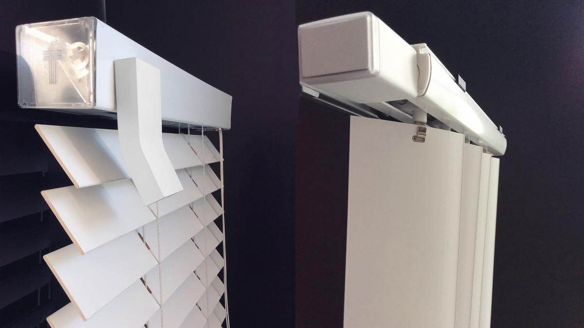 There are different FlipFlic models for horizontal (Venetian) and vertical blinds