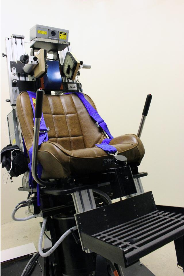 The motion sickness-inducing chair used in the study