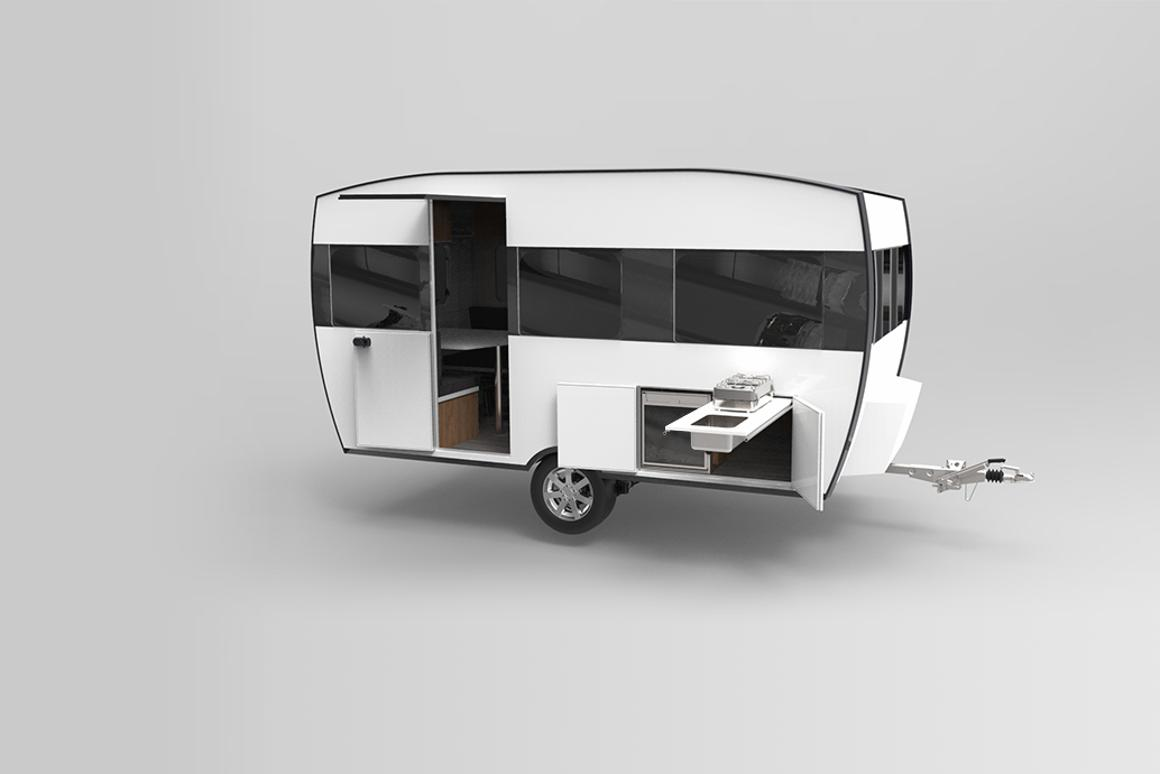 The Knaus Tabbert Travelino is a lightweight caravan concept